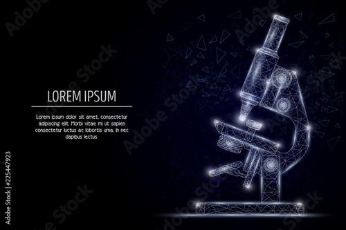 Carta da parati  Microscope vector geometric polygonal art style design