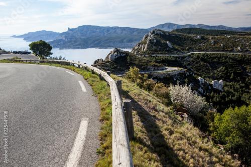 Obraz na plátně  cassis : La Route des Crêtes