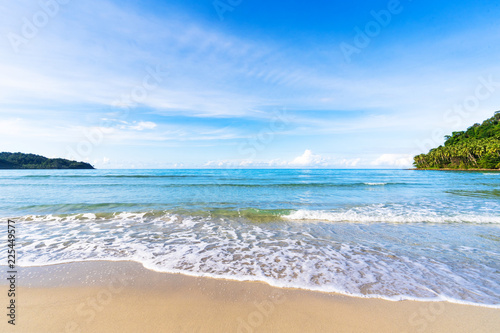 Beautiful tropical beach and sea under blue sky