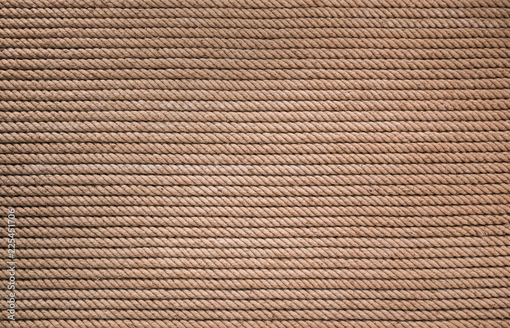 rough natural rope texture for background, full frame, marine concept