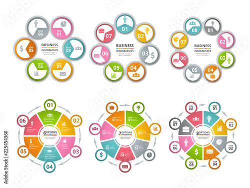 Fotografie, Obraz Circle shapes for infographics