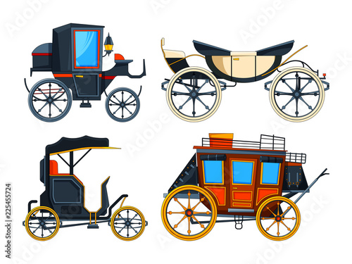 Retro transport carriage Fototapete