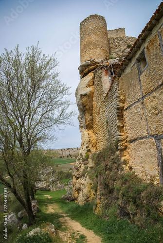 Fotobehang Oude gebouw Image of medieval castle in Calatanasor, Soria, Castilla y Leon, Spain