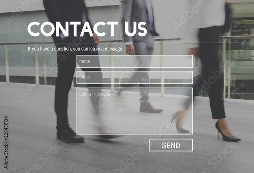 Fotografía  Contact Us Support Help Concept