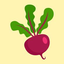 Beet Icon. Flat Illustration O...
