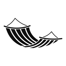 Hammock Icon. Simple Illustration Of Hammock Vector Icon For Web Design Isolated On White Background