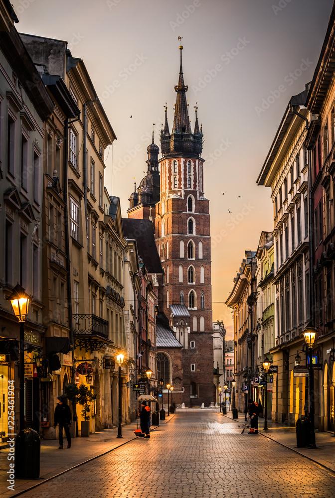 Fototapety, obrazy: Sunrise in Krakow, Poland