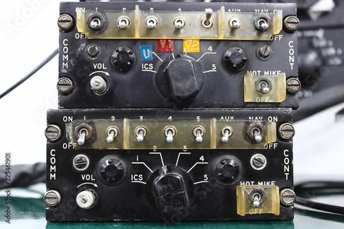 Control unit ,Communication System , Avionics equipment in aircraft with mainten Canvas Print