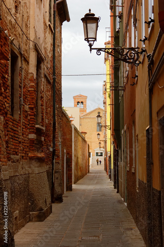Chioggia, Italy-August 26, 2018: Province of Venice. beautiful city street.