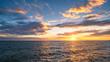 sunset sky on the beach background.