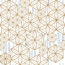 Japanese Pattern Vector. Geometric Template Background.
