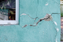 House Wall With A Crack, Destroying The House, The Alarm State