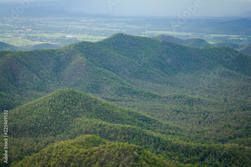 Spoed Foto op Canvas Natuur Mountain in the blue sky and cloud beautiful landscape wallpaper background