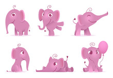 Cute Baby Elephants. Wild Afri...