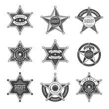 Sheriff Stars Badges. Western ...