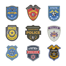 Police Badges. Security Signs ...