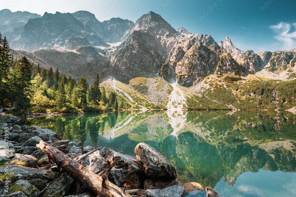 Fototapety, obrazy: Tatra National Park, Poland. Small Mountains Lake Zabie Oko Or M