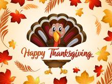 Happy Thanksgiving Turkey In A...
