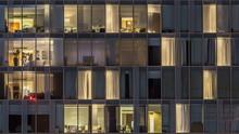 Windows Of The Multi-storey Bu...