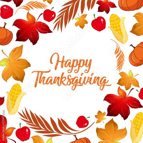 Fotobehang Kids Happy Thanksgiving fall concept