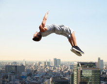Extreme Sport, Parkour And Peo...