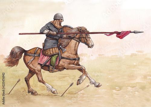 Canvas-taulu Knight horseback
