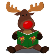 Reindeer With A Red Nose Singi...