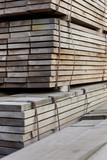 stack of tropical hardwood