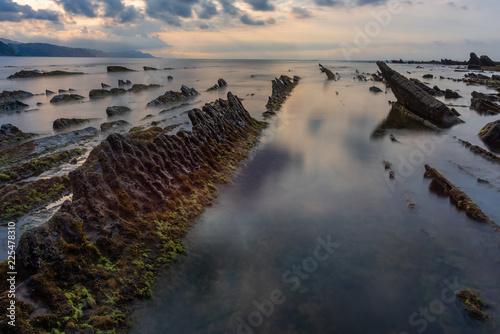 Playa de Sakoneta, Geoparque de la Costa Vasca , España