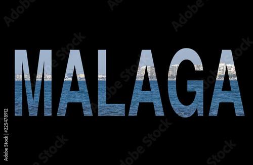 Ilustración de Málaga. Recurso gráfico / Illustration of Malaga. Graphic Resource