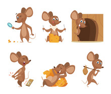 Mouse Character. Funny Cartoon...