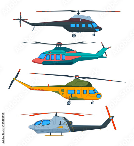 Helicopter Aviation Canvas Print