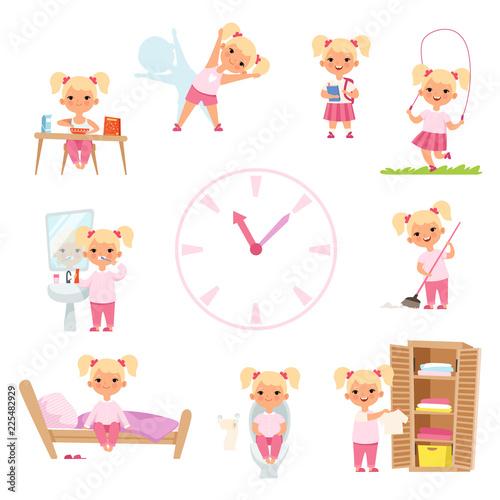 Childrens daily routine Fototapet
