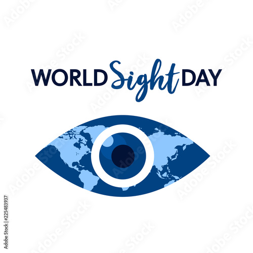 Fotografia World sight day concept background
