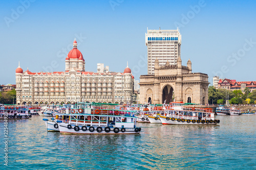 Fototapeta premium Taj Mahal Hotel i Gateway of India