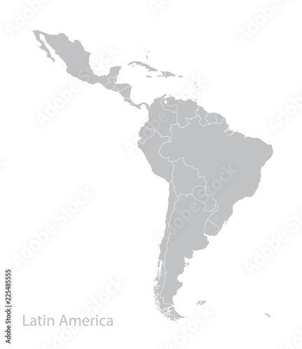 Fototapeta Map of Latin America. obraz