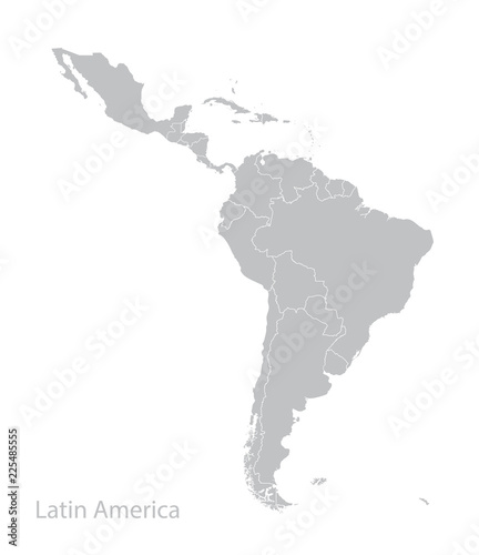 Map of Latin America. Wall mural