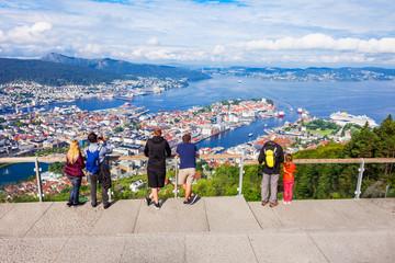 Bergen aerial panoramic view