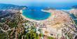 San Sebastian aerial panoramic view
