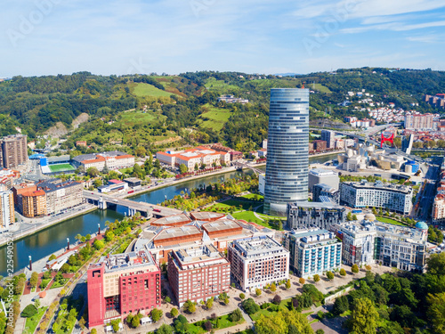 Bilbao aerial panoramic view, Spain