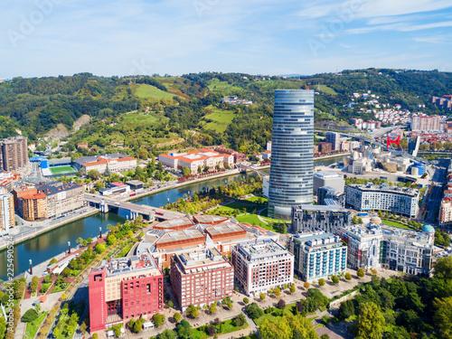 Photo  Bilbao aerial panoramic view, Spain
