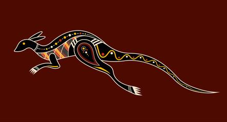 Kangaroo. Aboriginal art style.