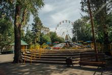 Empty Amusement Park By Day