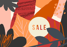 Abstract Autumn Sale Design