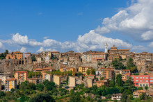 Beautiful Panoramic View Of The City Of Orte In Umbria, Italy.