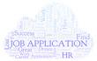 Job Application word cloud.