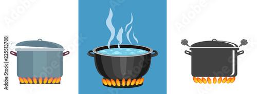 Valokuvatapetti Boiling pot