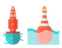 Buoy In Deep Sea