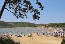 View Of He Paradise Beach In Summer. Lopar, Croatia. South-east Europe.