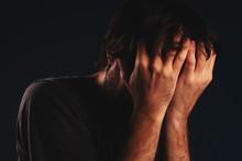 Man Is Crying In Despair